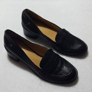 "Nine West ""New Kimmie"" leather block heel loafers"